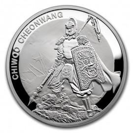 1 oz Unze  Silber Südkorea South Korea Chiwoo Cheonwang 2016 1 Clay pp