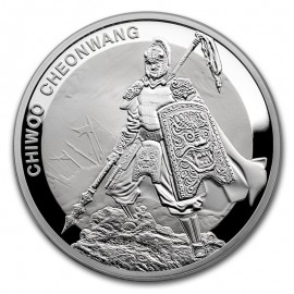 1 oz Unze Silber Südkorea South Korea Chiwoo Cheonwang 2016 1 Clay