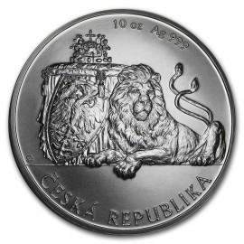 10 Unze Silber 25 $ Dollar Czech Lion - Tschechischer Löwe Niue Island 2017