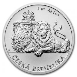1 Unze Silber 1 $ Dollar Czech Lion - Tschechischer Löwe Niue Island 2017