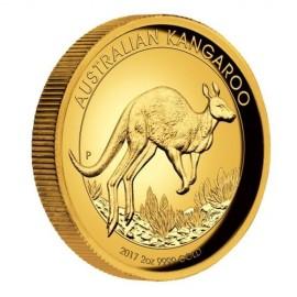 2 Unzen oz Gold 200 AUD Känguru High Relief PP 2017 -