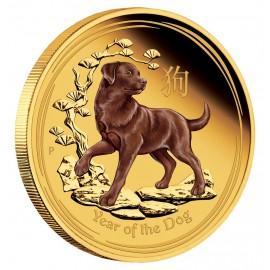 1 oz Gold Lunar II Hund 2018