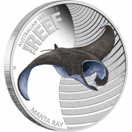 1/2 oz silver Sea LifeII Manta