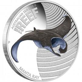1/2 oz silver Sea LifeII Manta