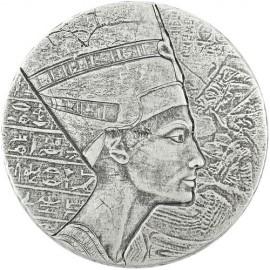 5 Unzen Silber Tschad Nefertiti 2017 3000 Fra