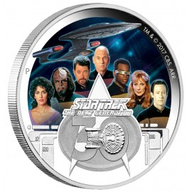 2 Unzen Silber    STAR TREK™ - CREW - 2 OZ  THE NEXT GENERATION - 30. JUBILÄUM Tuvalu