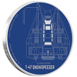 1 Unze Silber Snowspeeder  Star Wars Ships Niue
