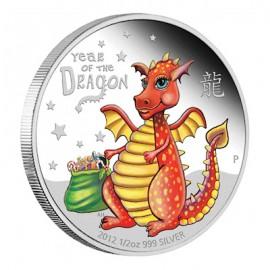 1/2 Unze Silber Baby Dragon Perth Mint PP