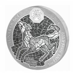 1 Unze Silber Ruanda Hund 2018