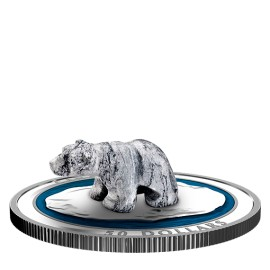 5 oz Unze Silber Canada 2017 Polar Bear sculpture coin