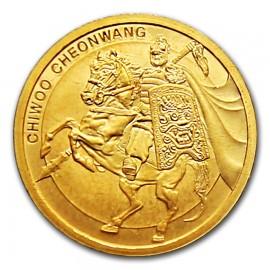 1/10 oz Unze  Gold Südkorea South Korea Chiwoo Cheonwang 2017 Blister Schwarz