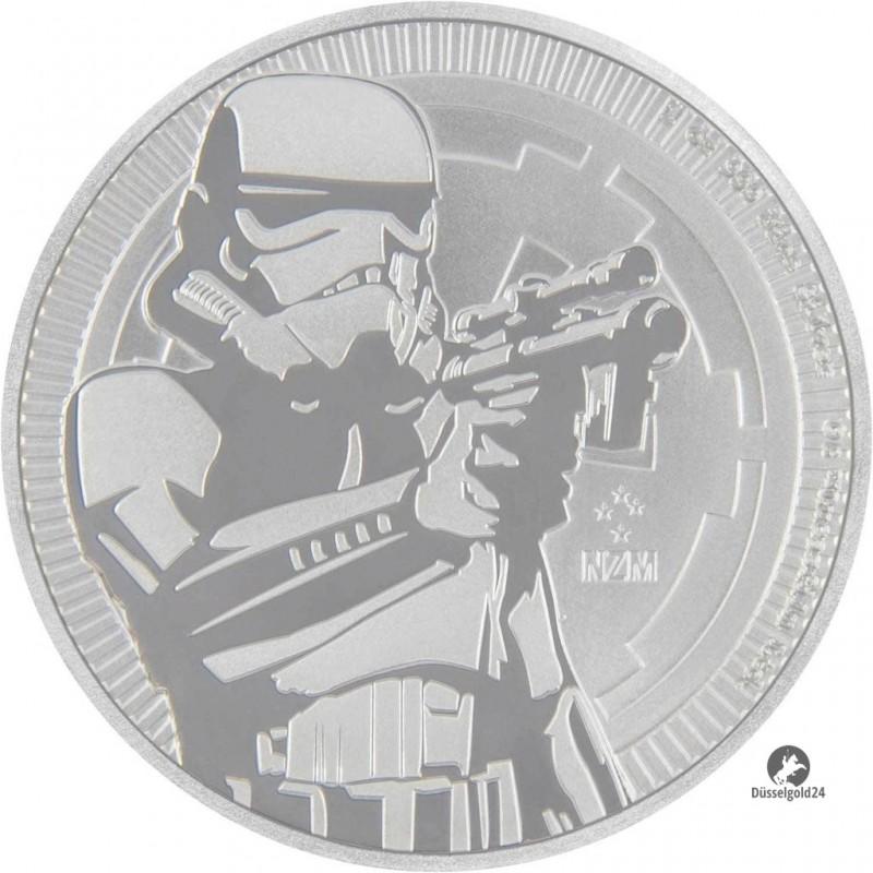 1 Unze oz Silber Stormtrooper Star Wars Niue 2018 BU