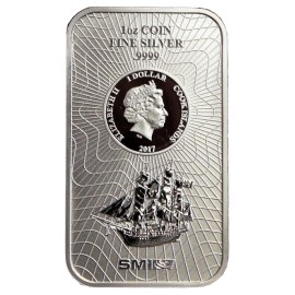 1 Unze Silber Cook Islands Münzbarren  Coin bar
