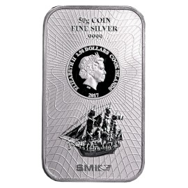 50 g  Silber Cook Islands Münzbarren Neues Design