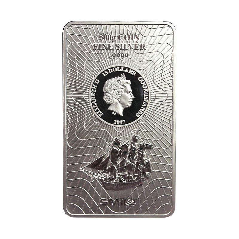 500 g Silber  Münzbarren Cook Islands