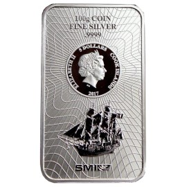 100 g Silber Cook Islands Münzbarren  Coin bar