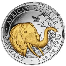1 Unze Silber Somalia Elefant Gilded  2018