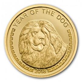 0,5 g Gold PP Lunar Dog Hund2017 MONGOLIA