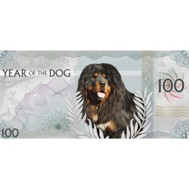 5 g Silber Year of the Dog  100 Togrog Mongolia