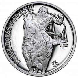 "1 Unze Silber  Provident FOUR HORSEMEN OF THE APOCALYPSE ""Black Horse of Famine  2017"""