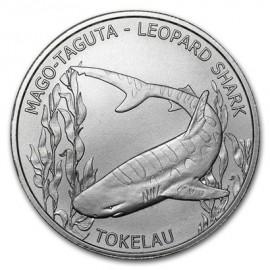 1 Unze Silber Leopard shark Magoa Taguta   Tokelau 2018