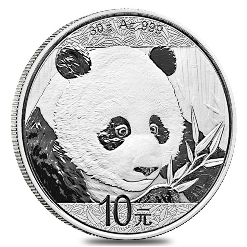 30 Gramm  China Silber Panda 2018