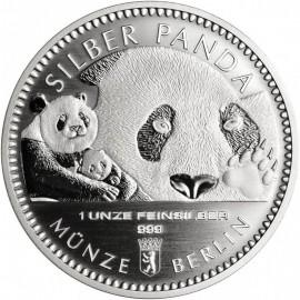 1 Unze Silber Panda Berliner Münze 2018