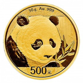 30 Gramm China Panda Goldmünze 2018