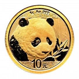 1 Gramm China Panda Goldmünze 2018