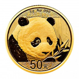 3 Gramm China Panda Goldmünze 2018