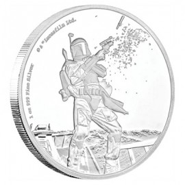 1 Unze Silber Boba Fett Star Wars Niue