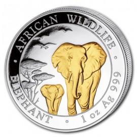 1oz Somalia Elefant 2015 Gilded