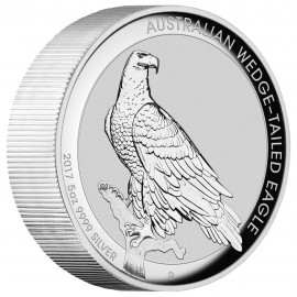 5 Unzen Silber Wedge-Tailed Eagle PP 2017 High Relief