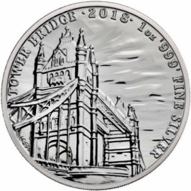 1 oz Tower Bridge silver