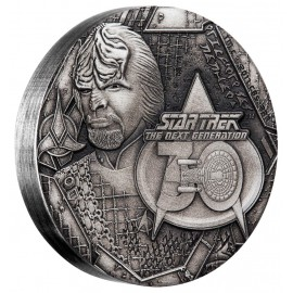 2 Unzen Silber    STAR TREK™ - WORF - 2 OZ  THE NEXT GENERATION - 30. JUBILÄUM Tuvalu