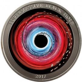 1 Unze Silber 2 $ Dollar Supermassive Black Hole - Schwarzes Loch Niue