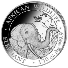 1/10 Unze oz Silber Somalia Elefant 2018