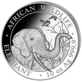 10 Unze oz Silber Somalia Elefant 2018