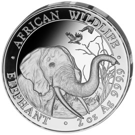 2 Unze oz Silber Somalia Elefant 2018