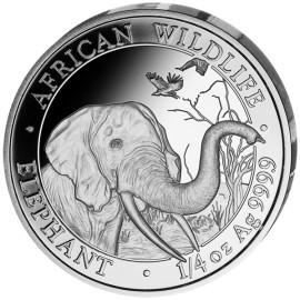 1/4 Unze oz Silber Somalia Elefant 2018