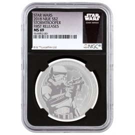 1 Unze Silber Darth Vader Star Wars NGC MS69  Niue 2017