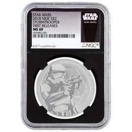 1 Unze Silver Darth Vader 2017 MS69
