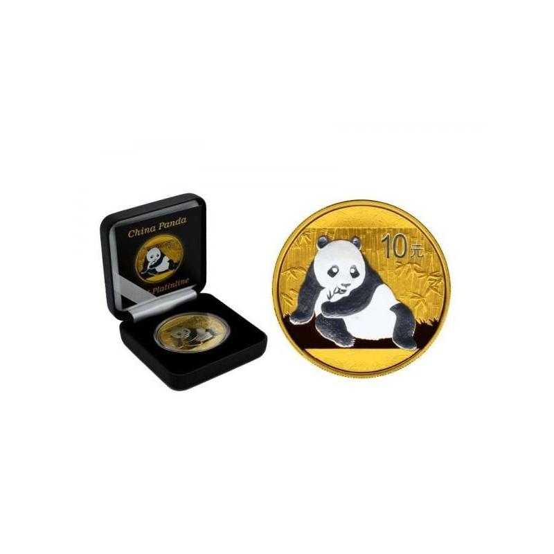 1 Unze Silber China Panda 2015 Gold/Platin Line