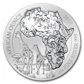 1 Unze Silber Ruanda Giraffe 2018