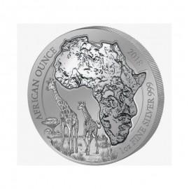 1 Unze Silber Ruanda Giraffe 2018 PP