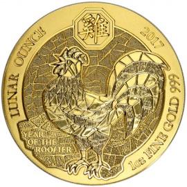 1 oz Rwanda 2017 Gold