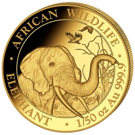 1/50 oz Somalia Elefant Gold 2018