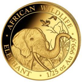 1/25 unze  oz Somalia Elefant Gold 2018 PP