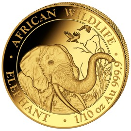 1/10 oz Somalia Elefant Gold 2018