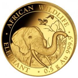 0,5 g Gramm  Somalia Elefant Gold 2018 PP